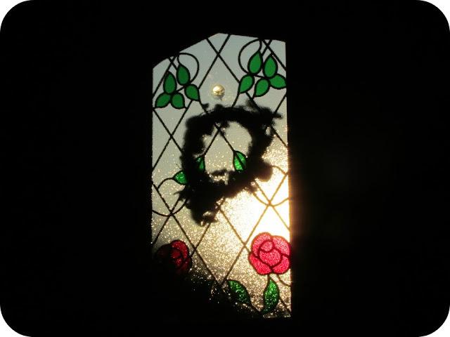 Sun streaming through door
