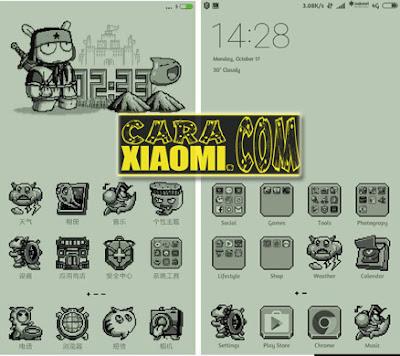Kumpulan Tema Unik(Themes Monochrome Pixel, Themes Paper & MITU) Untuk Xiaomi MIUI