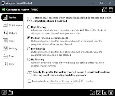 Screenshot Windows Firewall Control 5.0.2.0 Full Version