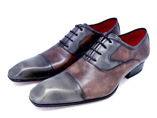 Richelieu a bout rapporté, cuir pre-patiné, paulus bolten, patine, chaussures habille, souliers