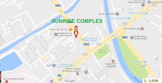 Vị trí của dự án Sunrise Complex