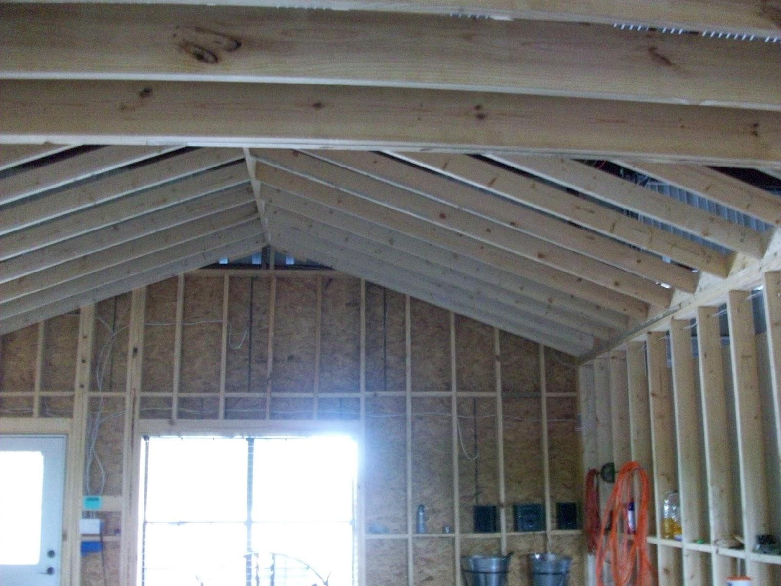 Barndominium Living Room Ceiling
