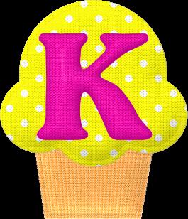 Abecedario en Cupcakes de Tela. Fabric Cupcakes with Alphabet.