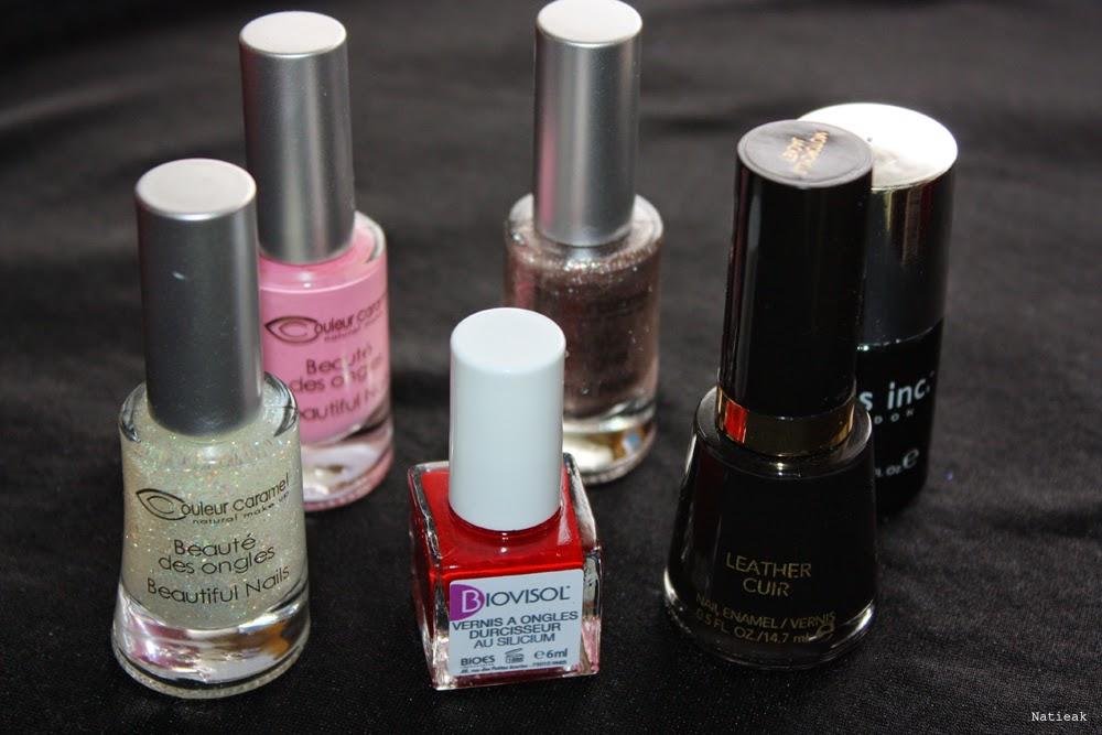 vernis test: Couleur Caramel, Biovisol, Revlon
