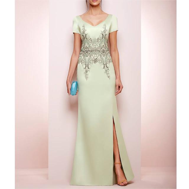 vestido de festa sem decote
