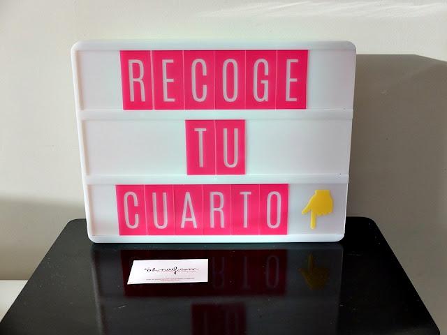 lightbox caja de luz recoge tu cuarto