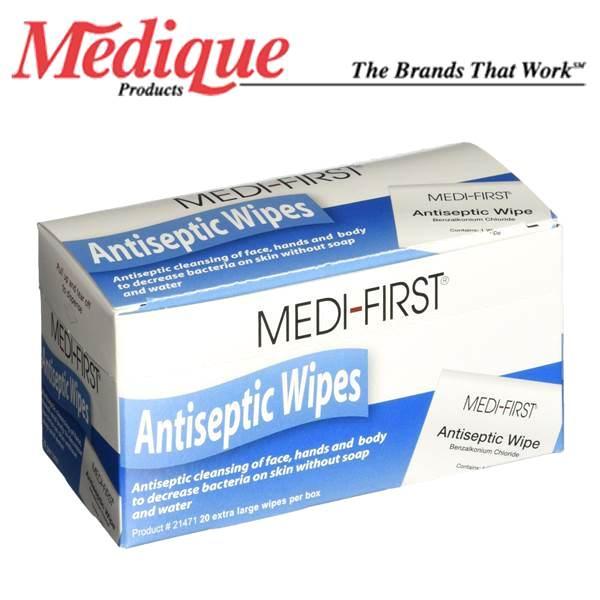 Medi-First® Antiseptic Wipes (20pcs, Box)
