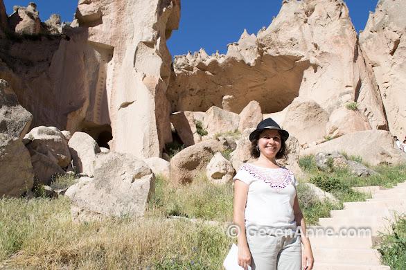 Kapadokya'daki en güzel yerlerden Zelve ören yerini gezerken