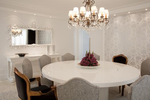 Construindo minha casa clean 13 salas modernas com - Papel de pared moderno ...