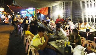 Yangon Chinatown local style dinner