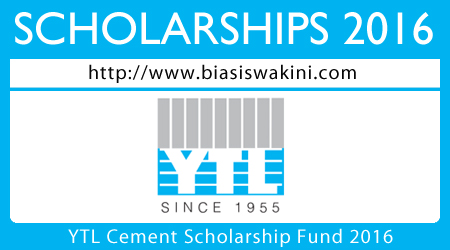 YTL Cement Scholarship Fund 2016