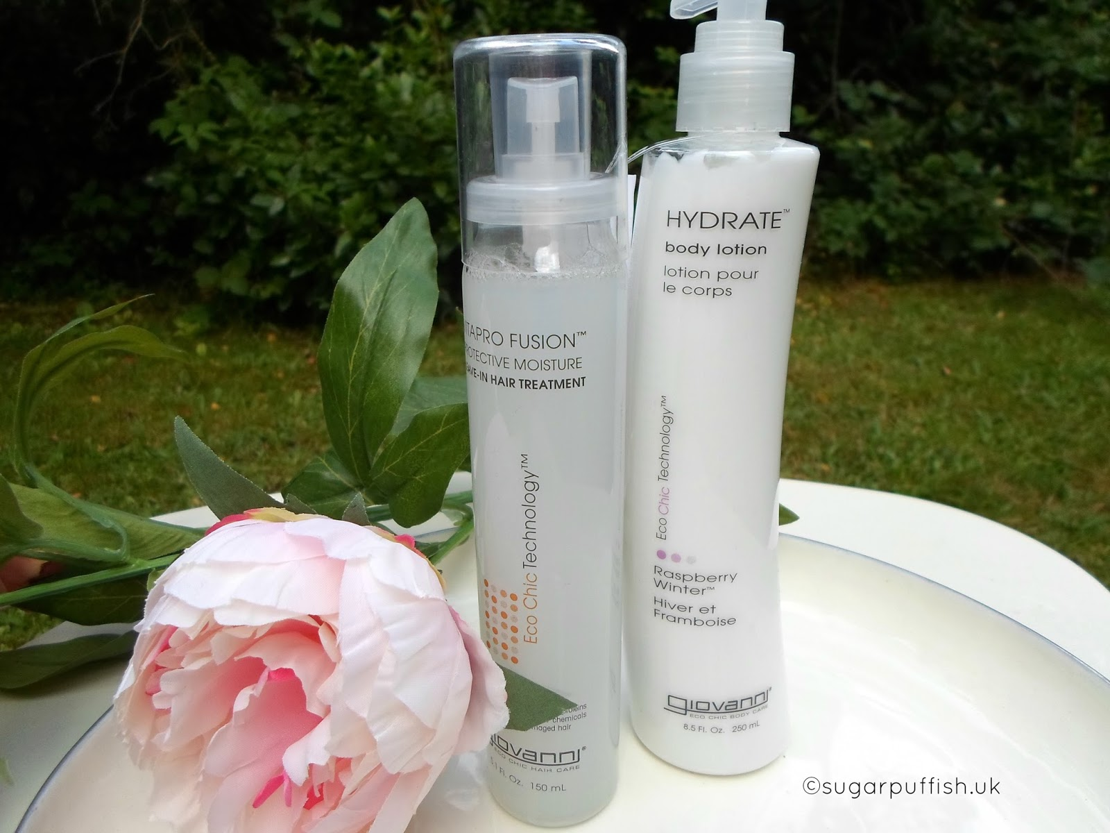 Giovanni Vitapro Fusion Leave in Hair Treatment and Raspberry Winter Body Lotion