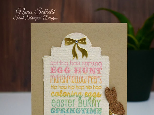 Cork Bunny and Easter Canvas