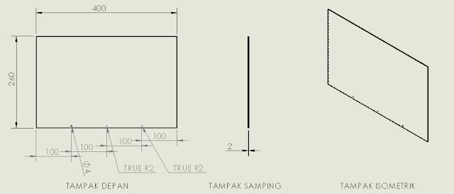 Gambar 3 12 Atap Untuk Miniature (sumber : perancangan)