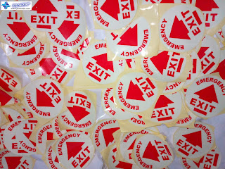 Emergency Exit Signs - Glow in the Dark Stickers