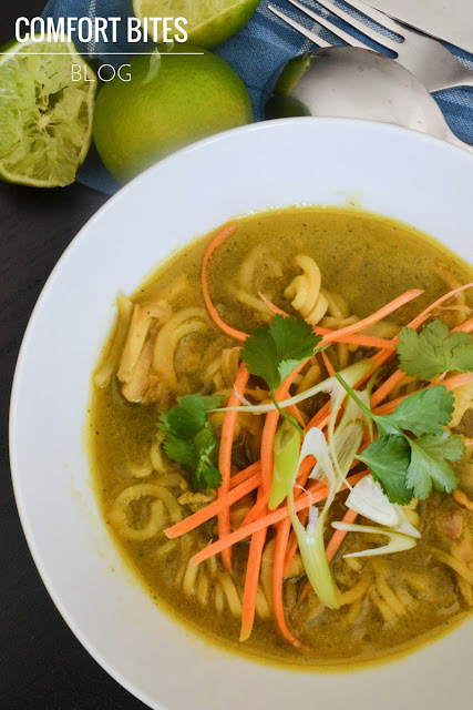 AIP paleo Burmese Style Chicken Noodle Soup Thai