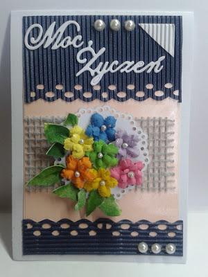 kartki, kwiatki, moc życzeń, imieniny