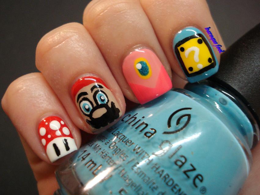baroque fool: 40 Great Nail art Ideas challenge: Music + Super Mario ...