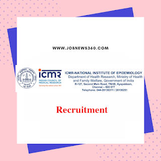 ICMR-NIE Chennai Recruitment 2019 for Stenographer post