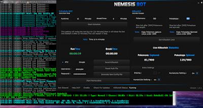 Bot Pokemon GO Nemesis Bot Manager GUI Terbaru Gratis