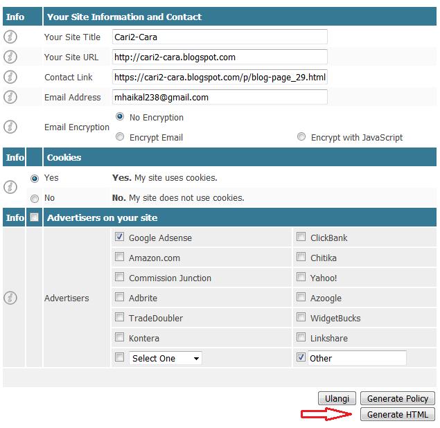 Cara Praktis Membuat Privacy Policy Untuk Blog Cara Praktis Membuat Privacy Policy Untuk Blog