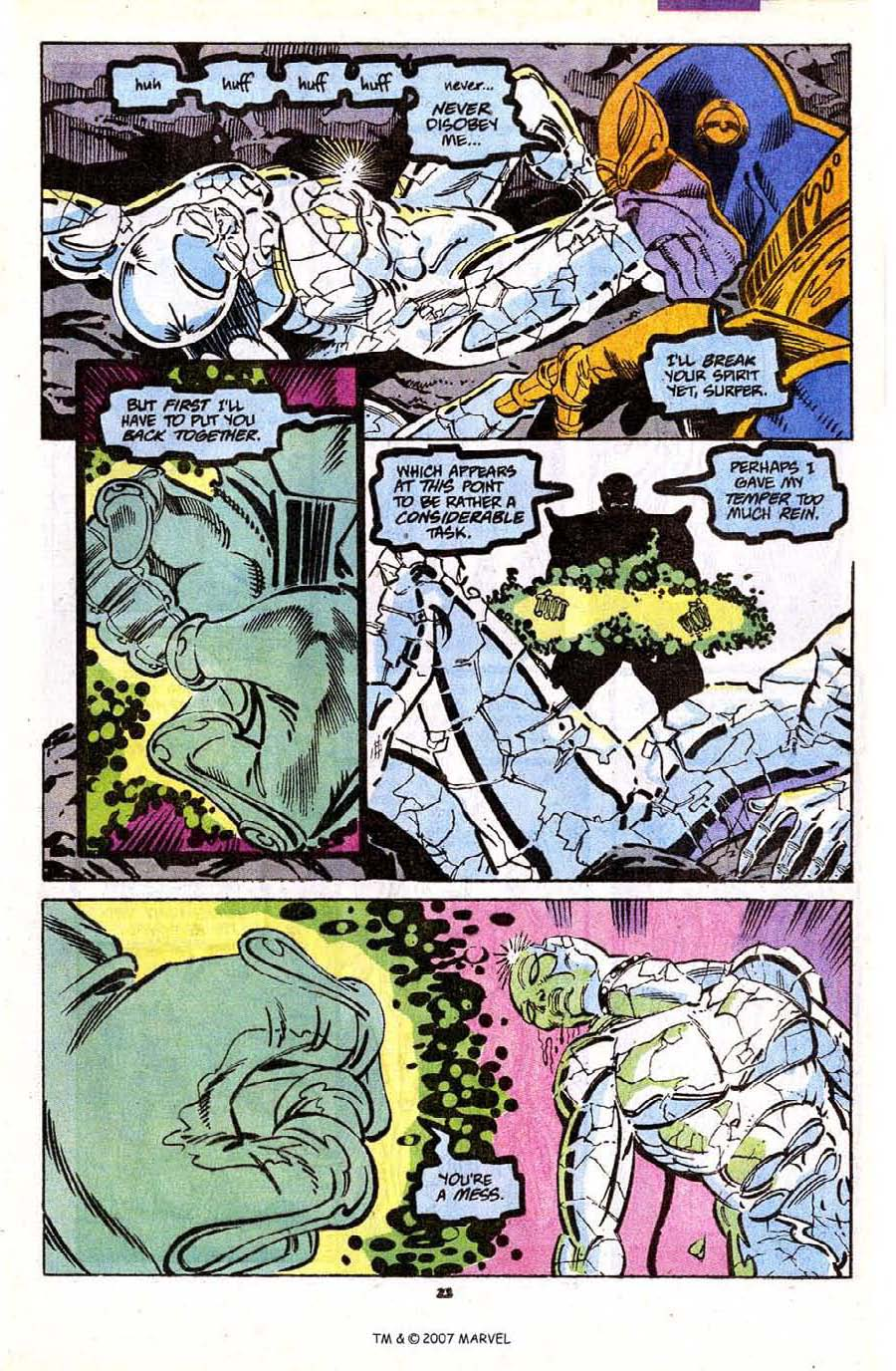 Read online Silver Surfer (1987) comic -  Issue #56 - 25