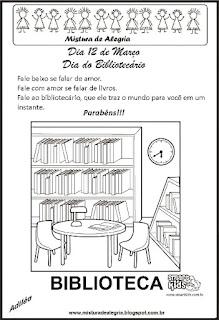 Dia do bibliotecário -cartão