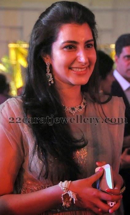 brahmani nara latest diamond choker jewellery designs