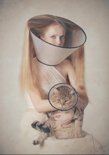 girl with long hair and sad pussy
