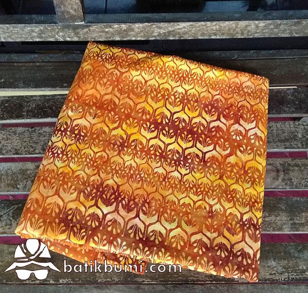 Batik Cap Motif Winih Trubus Orange