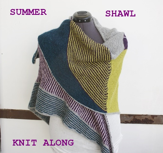 Summer Shawl Knit Alng