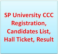 SP (Sardar Patel) Univesity  CCC Exam 2018 Registration