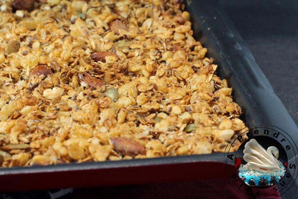 Granola fait maison (pas à pas en photos)