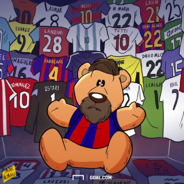 Messi the Teddy Bear