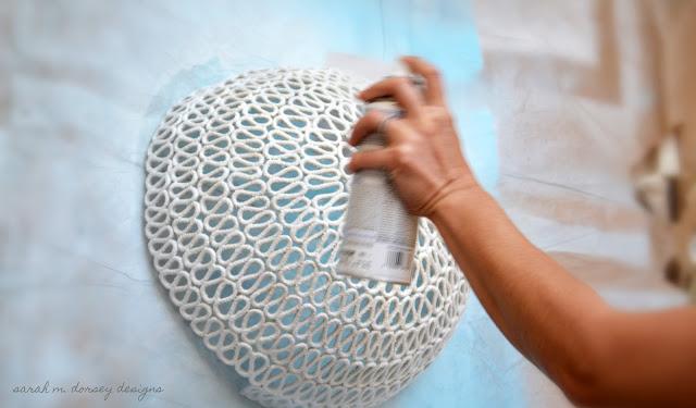 iluminación, aplique, cuerdas, bricolaje, decoración, diys