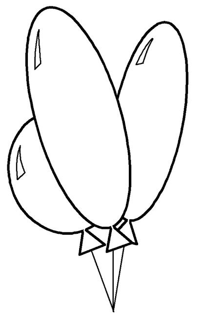 Gambar Mewarnai Balon - 2