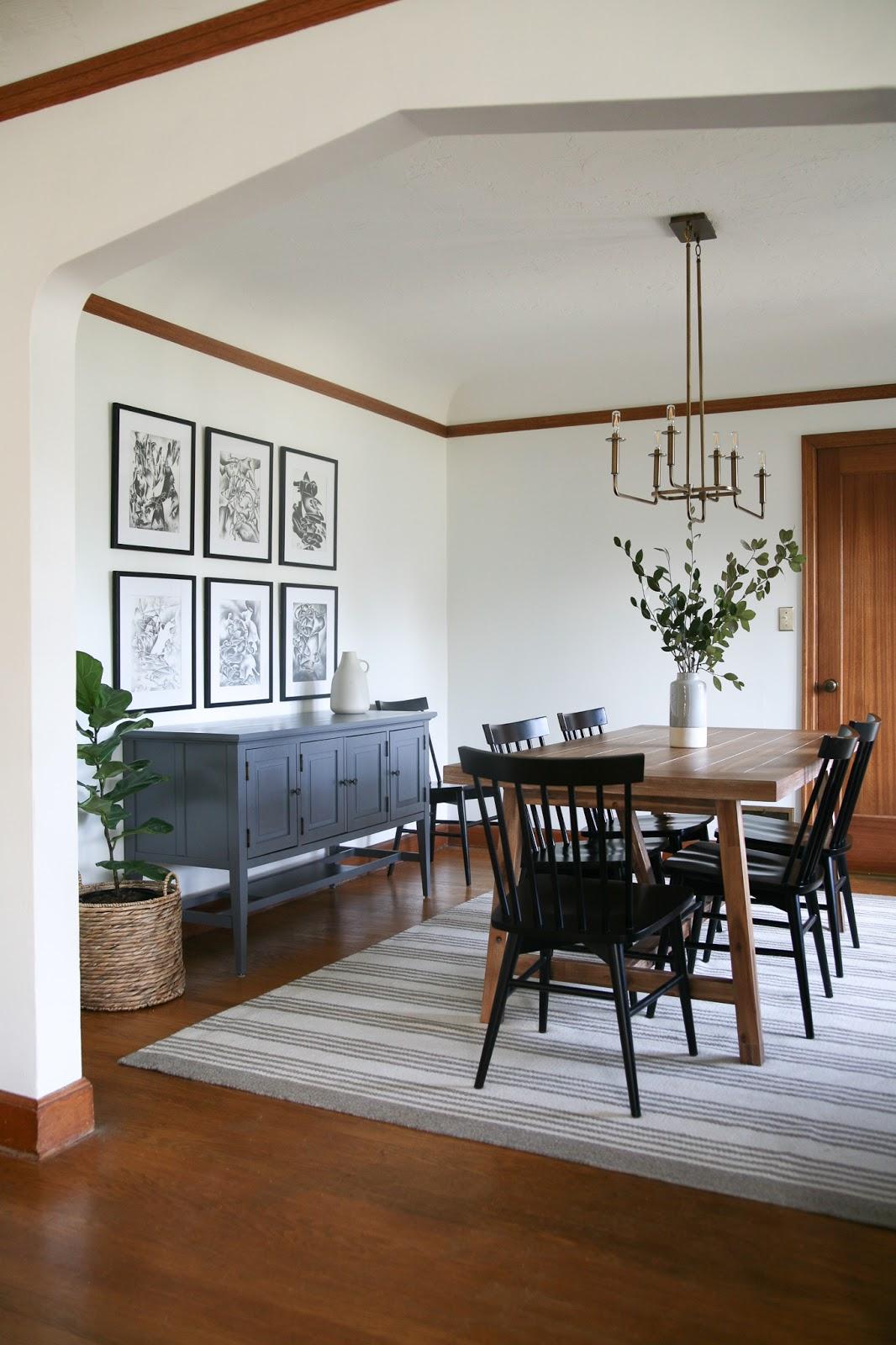 Modern Traditional Dining Room Decor Reveal Create Enjoy