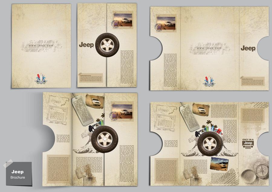 In nhanh Brochure đẹp tại xưởng Hà Nội, thiết kế Brochure độc đáo chuyên nghiệp Jeep