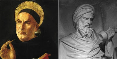 St. Thomas Aquinas and Averroes