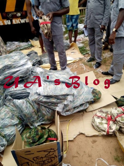 Photos: Customs Intercepts Container Load Of Military Uniforms, Other Items