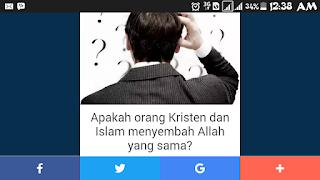 apakah orang Kristen dan Islam menyembah Allah yang sama