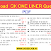Download Important GS One Liner question & Answers Hindi PDF