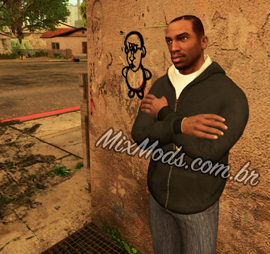 gta sa mod hd carl johnson gta v (old cj)