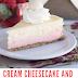 Cream Cheesecake And Strawberries