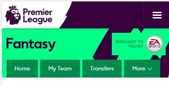 Fantasy Premier League Main Menu