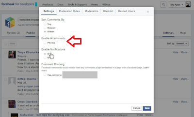 facebook comment moderation settings enable photo