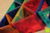Turm Dreiecke: Playbees 100 Teile Magnetische Bausteine Set für 2D und 3D Form Konstruktionen, Regenbogenfarben Magnetspielzeug, Baukasten Magnetspiel, Magnetbausteine