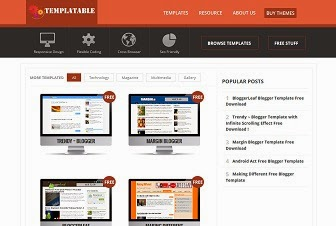 Templatable Blogger Template