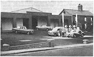 Forecourt at Rothwell & Milbourne, Malvern September 1959