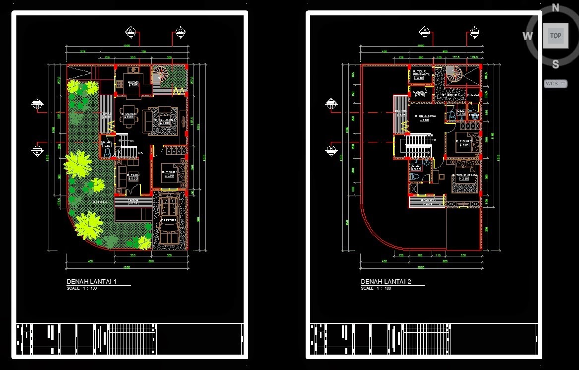 Menggambar Denah  Menggunakan AutoCad arsitekthink